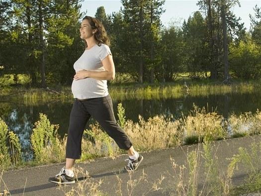 Пешие прогулки при беременности