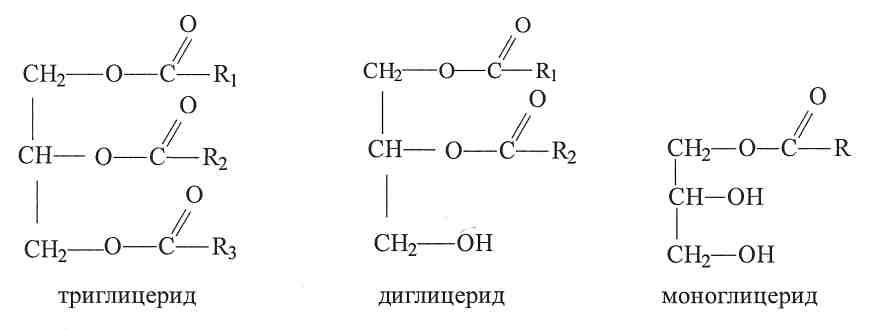 Моно-ди-триглицериды: формула