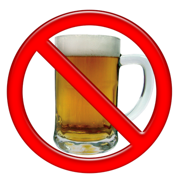Рекомендуется не пить алкогольные напитки