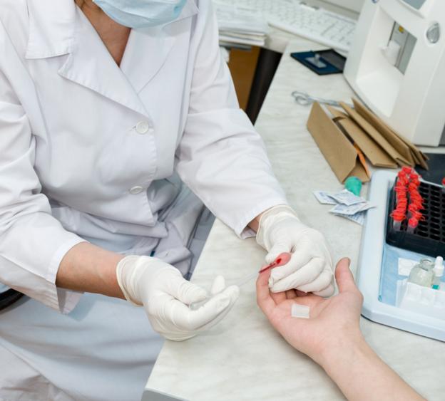 Взятие крови из пальца