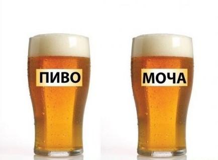 Моча, как пиво